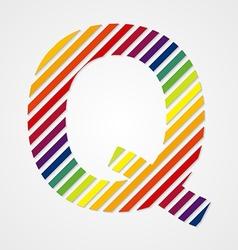 Alphabet Letter Q vector image vector image