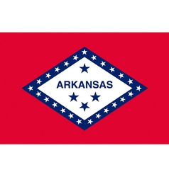 Arkansan state flag vector