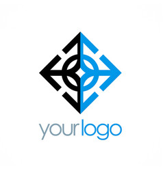 arrow geometry business logo vector image vector image
