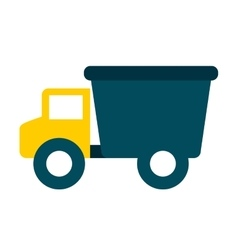 Baby toy truck isolated icon design vector
