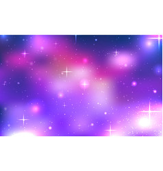 background of space with stars and nebula vector image