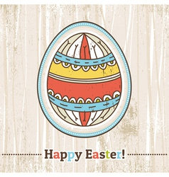 background with easter egg and text vector image