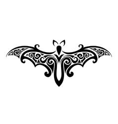 bat Balck and white vector image