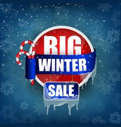 big winter sale concept background vector image vector image