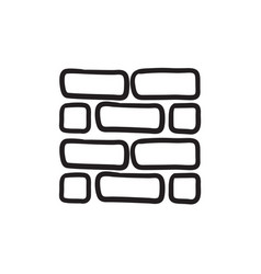 Brickwall sketch icon vector
