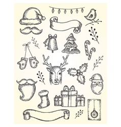 collection of Christmas vector image