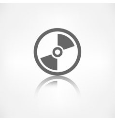 Compact disk web icon musical CD vector image