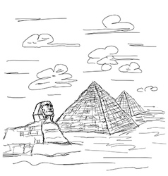 egypt pyramid vector image