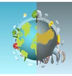 Environmental pollution round concept vector