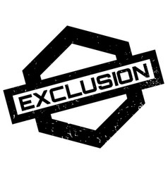 Exclusion rubber stamp vector