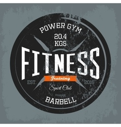 Gym or gymnasium fitness training print on shirt vector