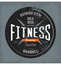 Gym or gymnasium fitness training print on shirt vector image