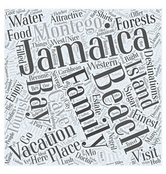 Jamaica family vacation word cloud concept vector