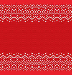 knited christmas geometric ornament design with vector image vector image
