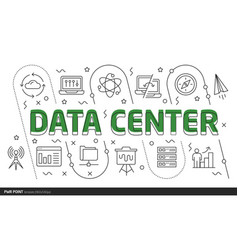 lines template data center vector image vector image