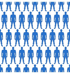 Men silhouette pattern vector image