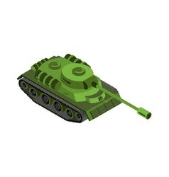 military tank isolated army war machine on white vector image vector image