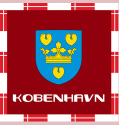 national ensigns of denmark - copenhagen vector image vector image