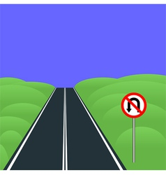 No U-turns vector image