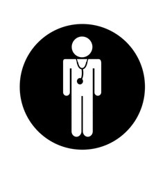 professional doctor silhouette figure vector image
