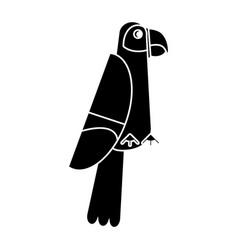 Scarlet macaw tropical bird pictogram vector