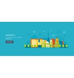 School and university building icon urban vector
