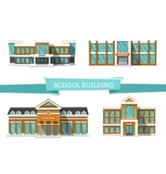 Schooll buildings on white vector image vector image