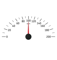 Speedometer kilometers per hour vector