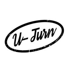 U-turn rubber stamp vector