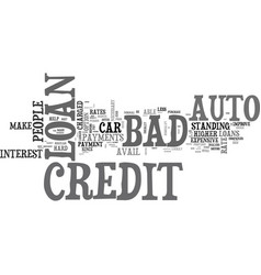 What you should know about bad credit auto loan vector