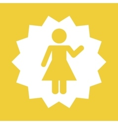 Woman female pictogram vector