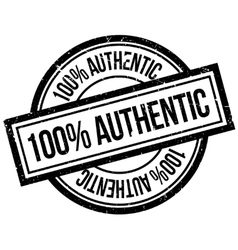 100 percent authentic rubber stamp vector
