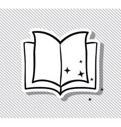 Open book and literature design vector