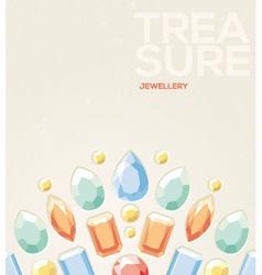 jewelry background vector image