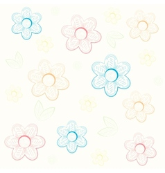 Background with flowers in hand draw style vector