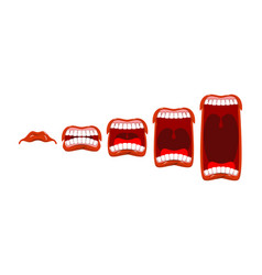 changes in sound level volume yelll stage scream vector image