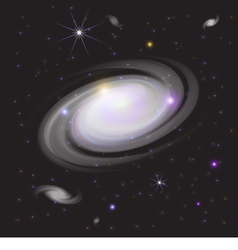 Galaxy in space vector