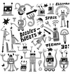Robots - set icons vector image