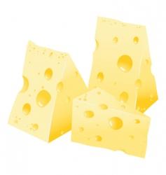 Cheese with holes vector