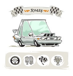 Cartoon sport car set vector