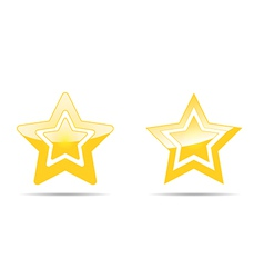 Pair of stars vector