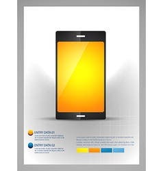 Mobile phone infographic template vector