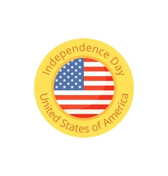Badge for independence day and fourth of july vector