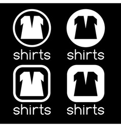 Icons of shirts vector