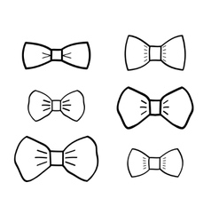 Hand-drawn bowties set vector