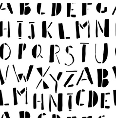 Hand-drawn doodles alphabet seamless pattern vector