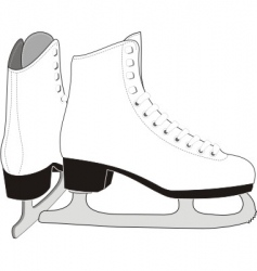 Lady's ice skates vector