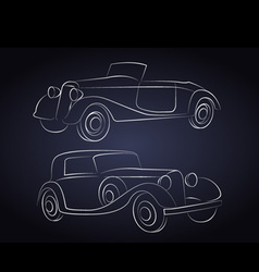 Retro Car Silhouettes vector image