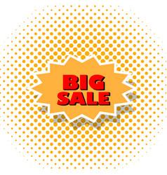 big sale poster art style pop vector image vector image
