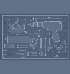 Blueprint building tool vector